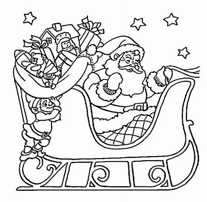 Santa Coloring Pages Sleigh