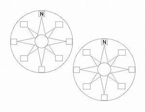 Blank Compass Points Template