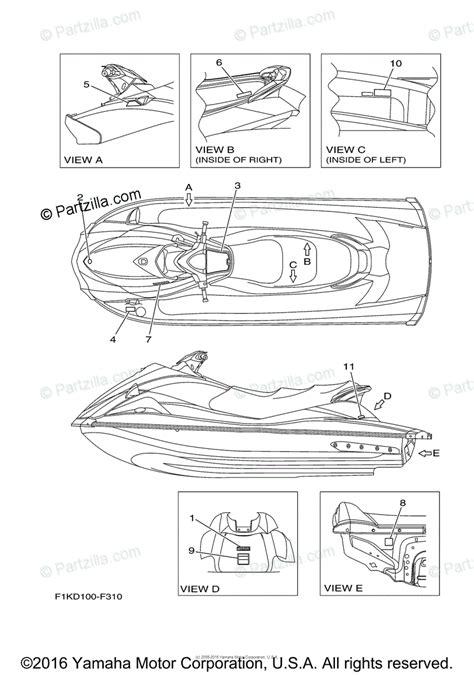 Waverunner Engine Diagram by 2005 Yamaha Waverunner Vx110 Engine Parts Number