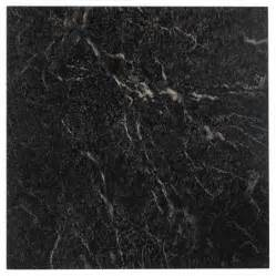 12x12 Vinyl Floor Tiles by Nexus Black With White Vein Marble 12x12 Self Adhesive