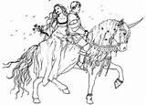 Coloring Pages Princess Prince Horse Popular Coloringhome sketch template