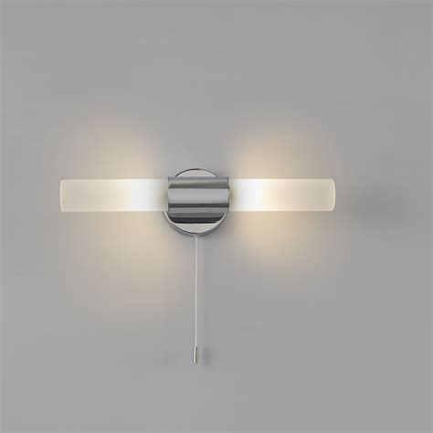b q wall lights bathroom float chrome effect bathroom wall light departments
