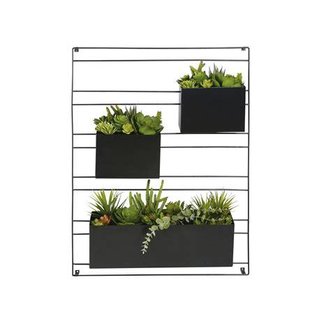 decoration murale plante d 233 co murale 3 plantes artificielles en pot malaga