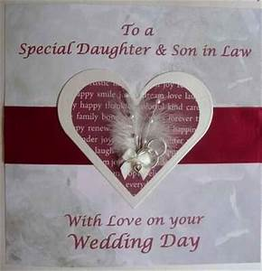 wedding card for daughter and son in law with heart With wedding gift for son and daughter in law