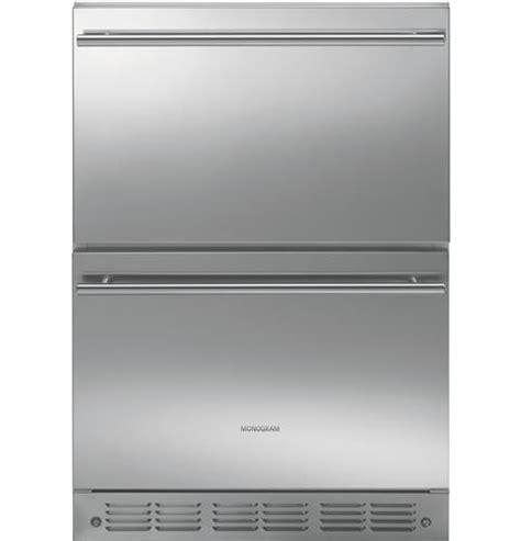 ge monogram  stainless double drawer  counter refrigerator zidspss ebay