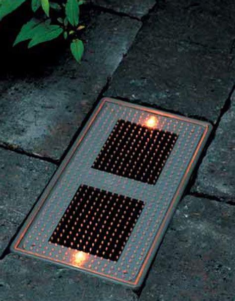 solar brick paver lights solar powered sun brick sun brick inhabitat