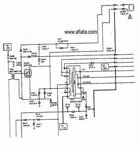 Electronic Circuit Diagram Tv Horzontal  D2499  2sd2499