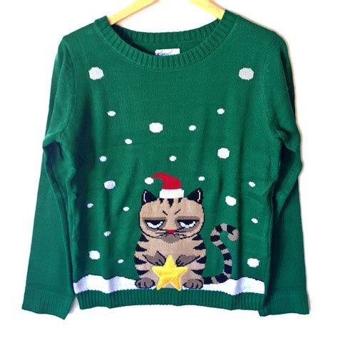 grumpy cat tacky ugly christmas sweater the ugly sweater