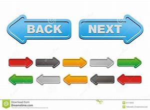 Next And Back Buttons Arrow Buttons Stock Photos Image