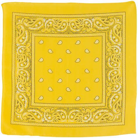 yellow bandana  party city