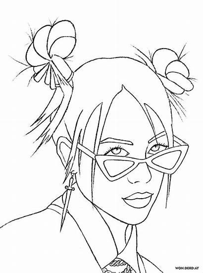 Billie Eilish Coloring Pages Singer Talented Popular