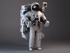 nasa astronaut mmu backpack 3d model