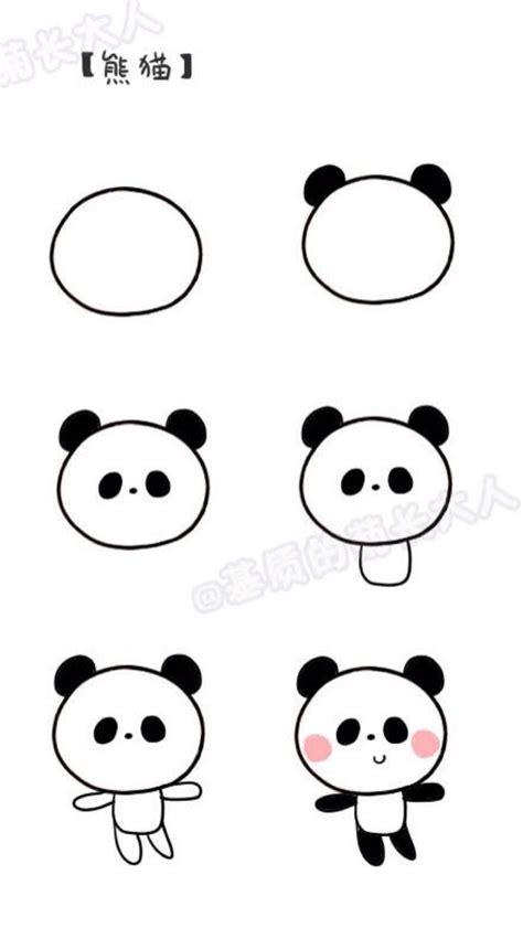 draw  panda art pinterest panda drawings