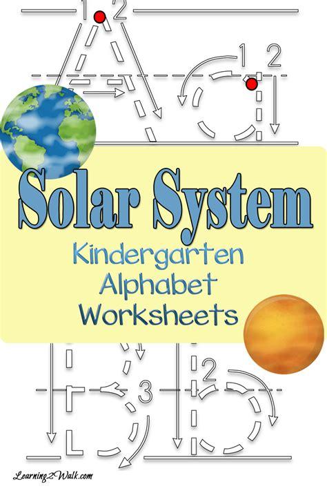 craftionary 566 | Solar System Alphabet Kindergarten worksheets pin