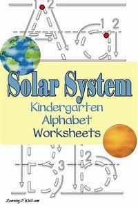 Solar System Kindergarten Alphabet Worksheets
