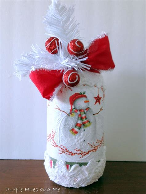 hometalk   decoupage christmas napkins  mason jar