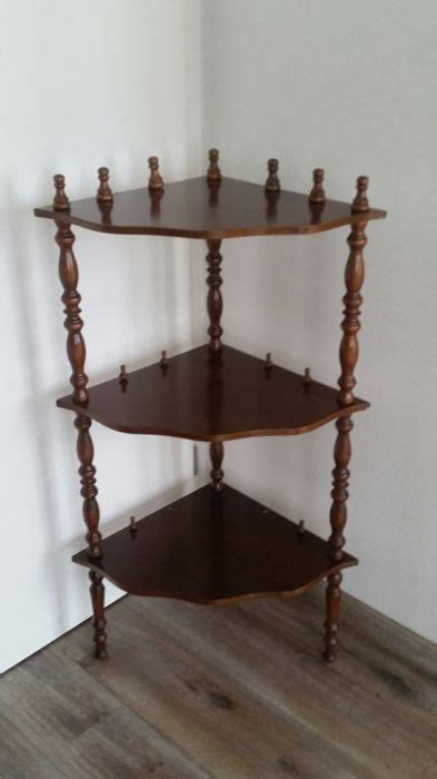 Etagere Wood by Three Part Wooden Corner Etagere Wood Catawiki