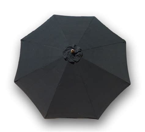 patio umbrella replacement canopy  ft  rib black formosa covers formosa covers