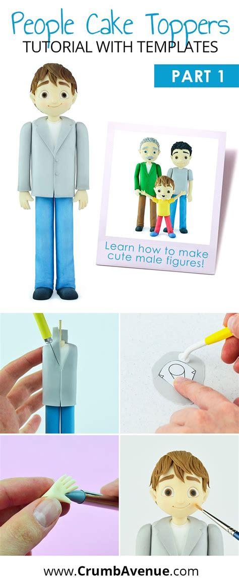 Cute Men Templates cute people cake toppers pdf tutorial with templates