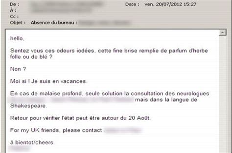 mail absence maladie bureau vos mails d absence r 233 v 232 lent quel employ 233 vous 234 tes