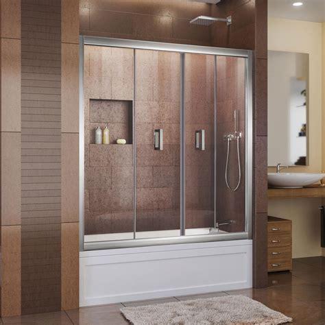 Tub Shower Door by Dreamline Butterfly 57 1 2 To 59 In X 58 In Framed Bi