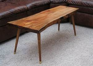 mid century coffee table woodwaves With modern wood slab coffee table