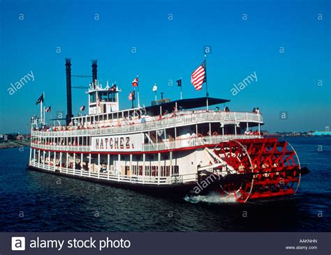 Mississippi River Boat Cruise In New Orleans by The Paddle Wheel Boat The Natchez In Mississippi River At