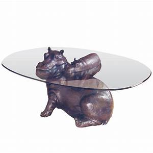 bespoke bronze sculpture mark stoddart hippo baby With hippo coffee table