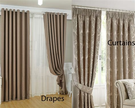 Home Curtain : Drapes Vs Curtains