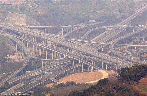 Qianchun Interchange by China S Mind Blowing Overpass Shown At Chongqing Daily