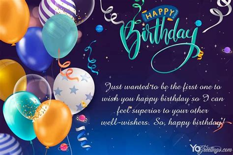 happy birthday card  color balloons