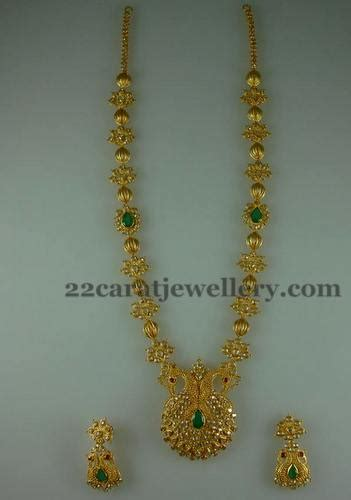 durgas fancy long chain jewellery designs
