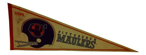 Vintage Usfl Quot Pittsburgh Maulers Quot Team Pennant 1982 Chairish