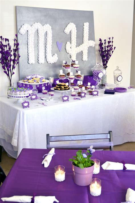 purple bridal shower decorations ideas you can find