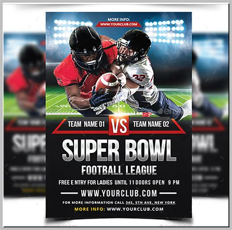 15 Super Bowl Flyer Designs And Templates Psd Ai Free