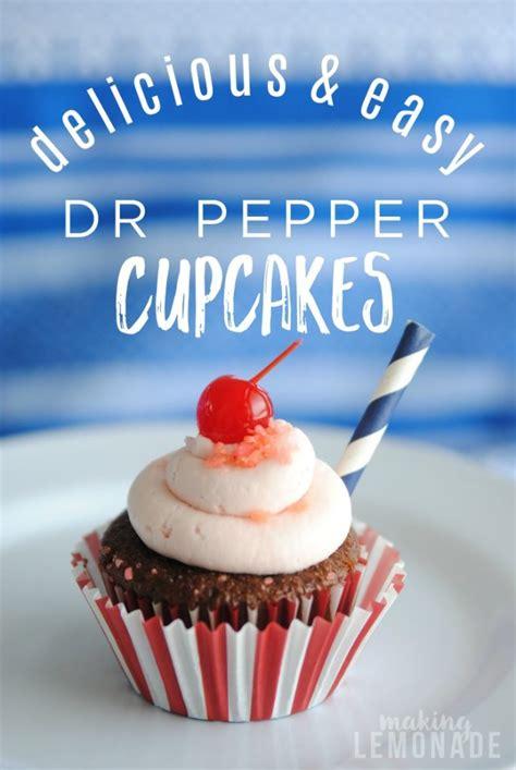 dr pepper cupcake recipe beach party ideas making lemonade