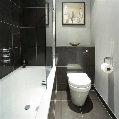 grey black  white bathrooms  grasscloth wallpaper