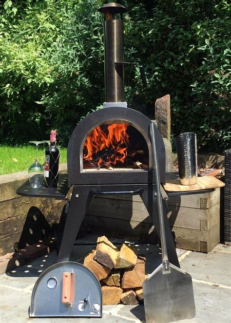 dome outdoor pizza oven ovens stone base brick wood fired