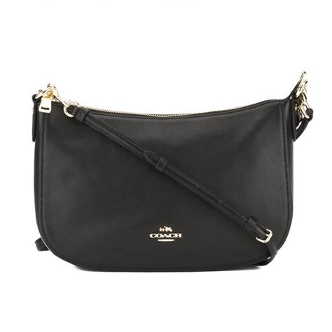 coach black leather chelsea crossbody bag   tags  luxedh