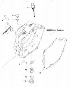 Polaris Side By Side 2009 Oem Parts Diagram For Engine  Crankcase Cover  Rh