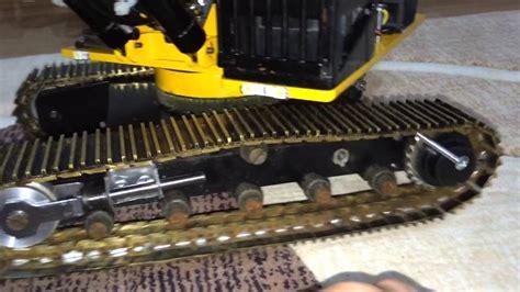 excavator track tension test youtube