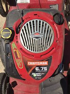 "Craftsman 6 75 hp 22"" lawn mower with ez walk drive"