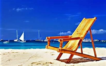 Beach Wallpapers Summer Chair Desktop Vacation Summertime