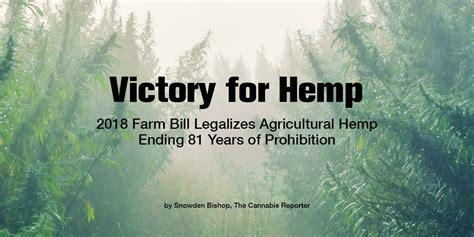 victory  hemp  farm bill legalizes hemp