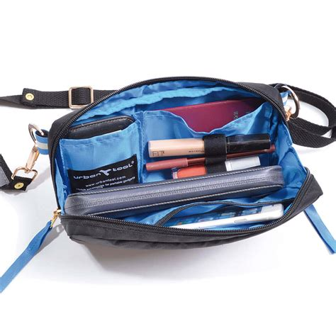purse lights up inside travel purse for secure light weight travel fits women