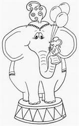 Circus Elephant Coloring Kleurplaat Olifant Elephants Kleurplaten Songs Preschool Crafts Heavy Carnival Olifanten Teaching Craft Use Theme Drawing Drawings Jahrmarkt sketch template