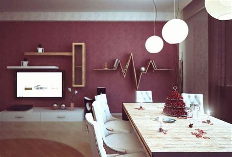 d 233 co salon peinture salon ouvert sur la salle manger en couleur bourgogne tendance