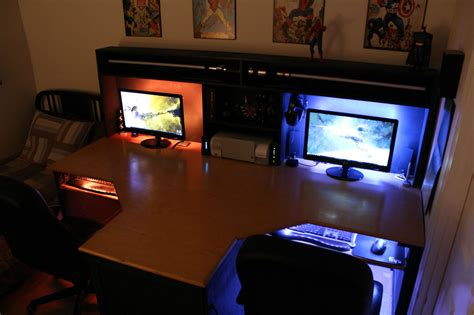gaming station computer desk cool computer setups and gaming setups