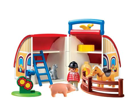 ferme transportable playmobil playmobil 6778 1 2 3 ferme transportable comparer avec touslesprix