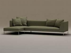 2 piece modern sectional sofa 3d model 3dsmax files free With sectional sofa 3d model